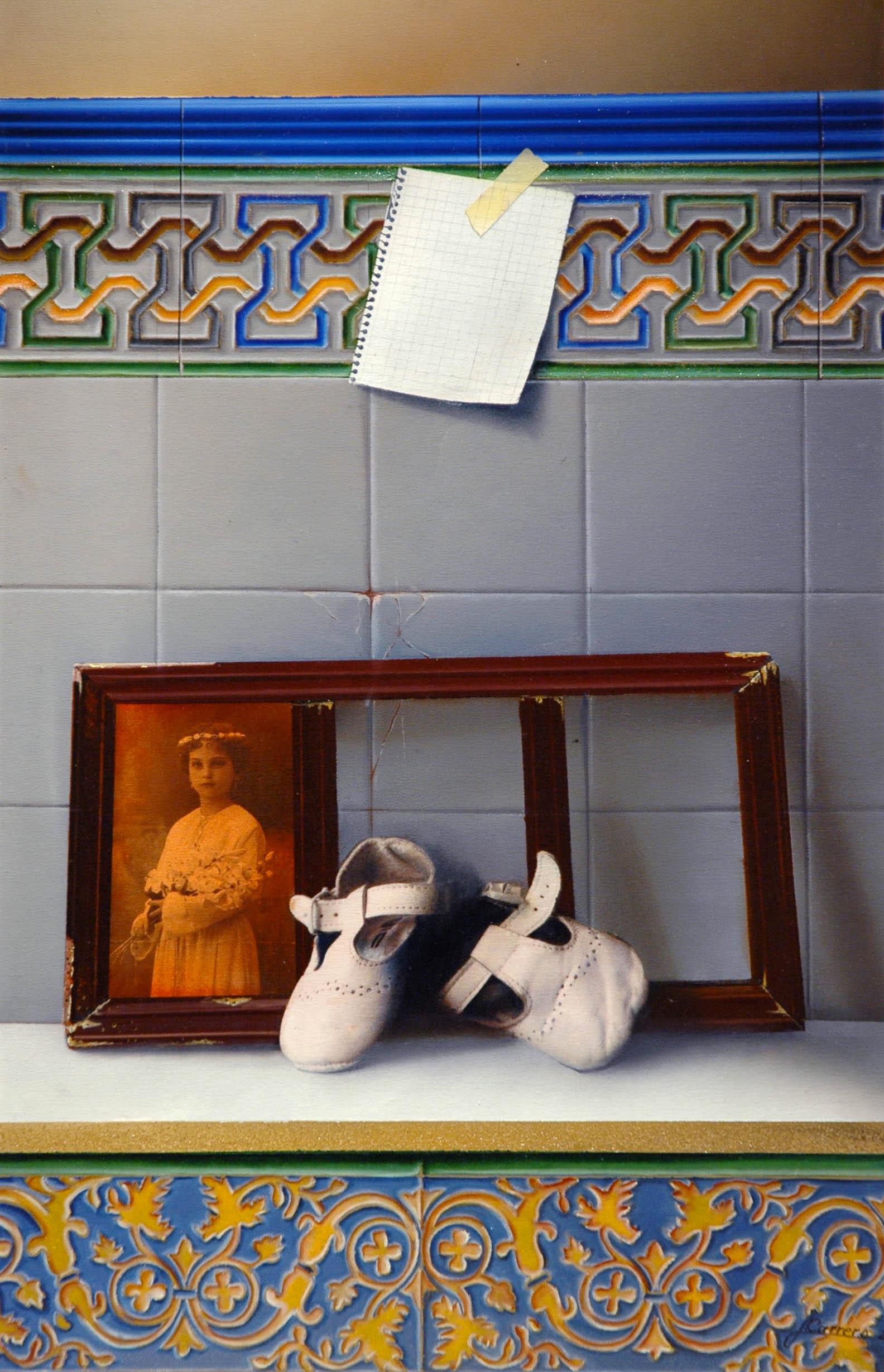 Zapatos y foto de primera comunión